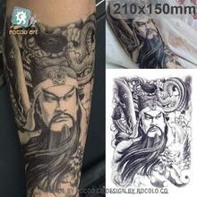 Body Art Waterproof Temporary Tatoo For Men And Women Guan Yu Portrait Sketch Arm Pattern Large Arm Flash Tattoo Sticker LC2858