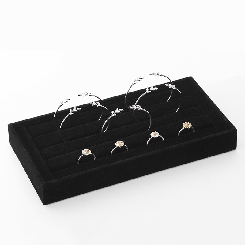Velvet Ring Bracelet Bangle Jewelry Display Stand Holder Jewelry Display Tray Show cases