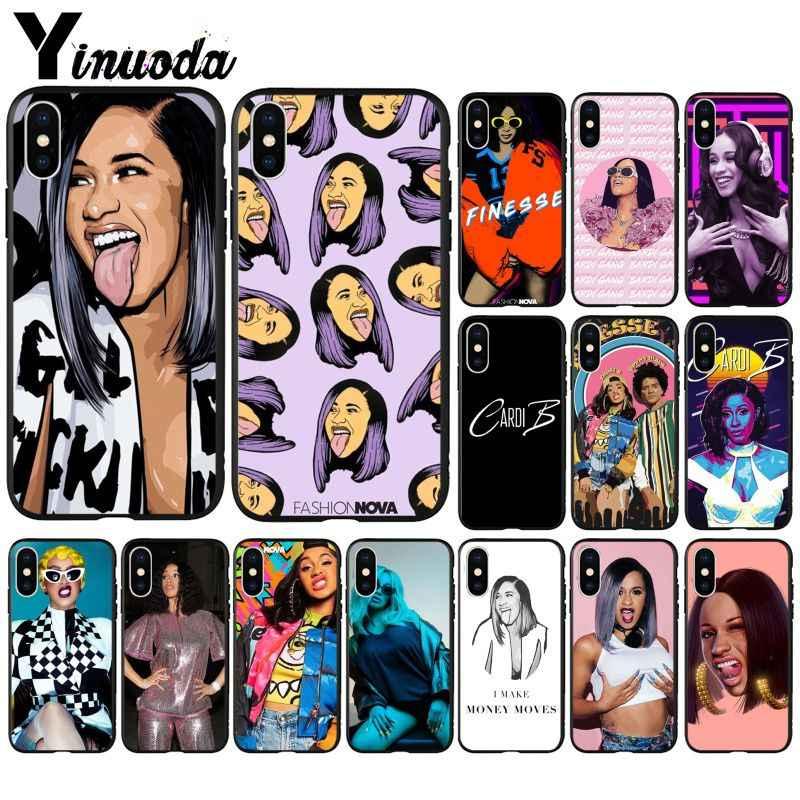 Yinuoda Mỹ Rap Ca Sĩ Cardi B Mới Lạ Fundas Điện Thoại Trường Hợp Bìa cho iPhone 6 S 6 cộng với 7 7 cộng với 8 8 cộng với Xs X MAX 5 5 S XR