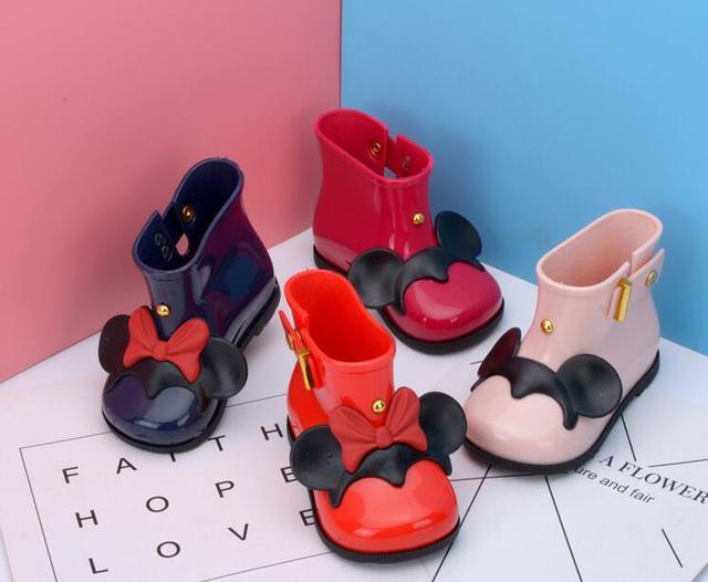 La MaxPa Çocuk lastik çizmeler Jöle Yumuşak Fare Kulaklar Bebek Ayakkabı Kız yağmur çizmeleri Bebek yağmur çizmeleri Çocuk Kız Çocuk Rai