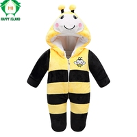 Bee Mickey KT Long Sleeve Rompers For Babies Brand Baby Clothing Winter Baby Jumpsuit Romper Warm