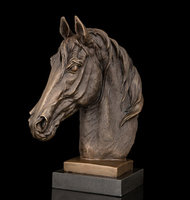 Copper Brass crafts Best Selling door to door Horse sculptures of Horses galloping Home