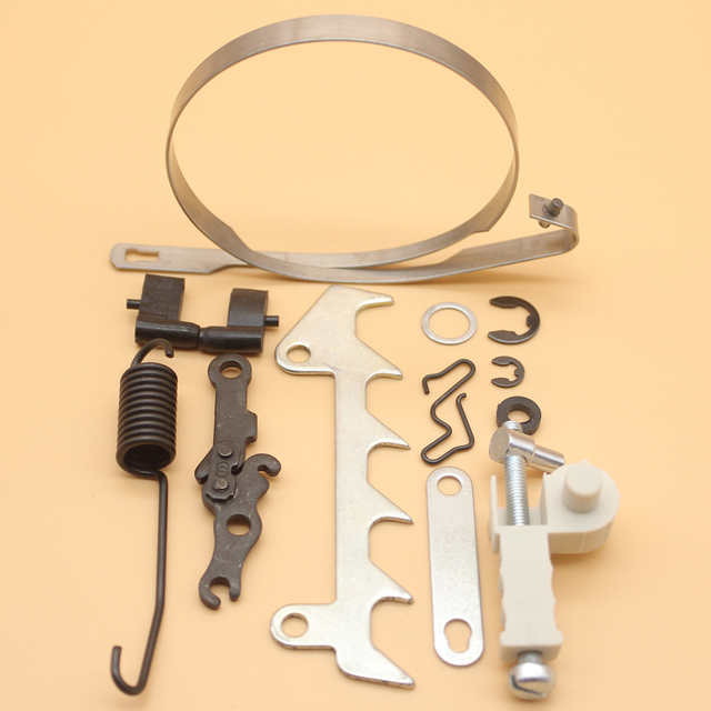 Cadeia de Freio Banda Mola do Tensor Ajustador Bumper Tira Kit Para STIHL  017 018 MS170 652ed423d7