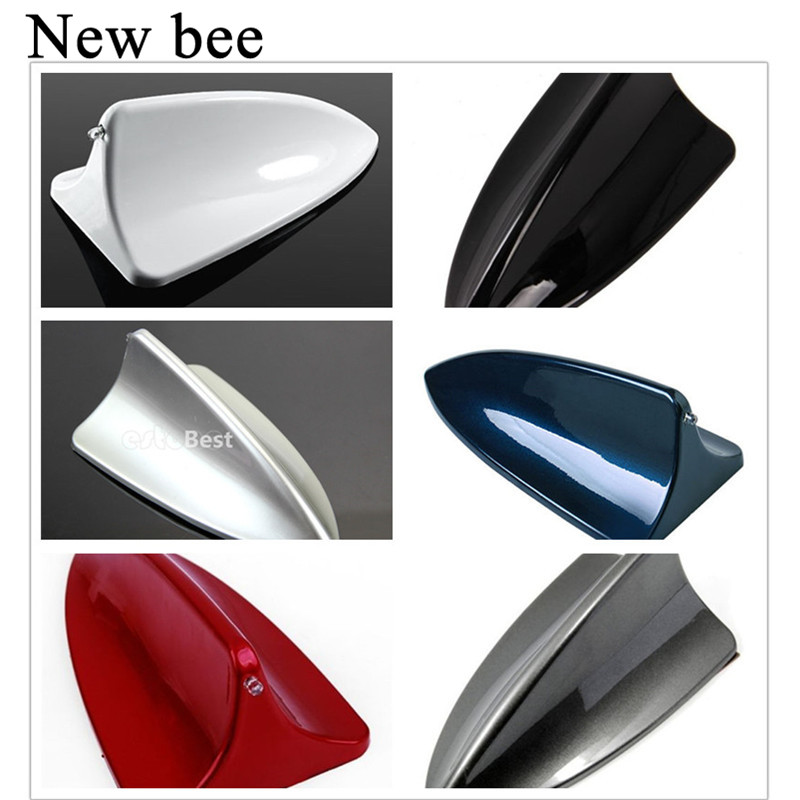 Auto Car Universal Shark Fin Shape Roof Decorative Dummy Antenna Aerial White