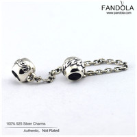 Family Ties Beads for Jewelry Making 925 Sterling Silver Thread Safety Chain Charms Fits Pandulaso CKK Bracelets