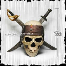 Limited 15CM High Classic Toy Pirates of the Caribbean Captain Jack s skull font b action