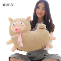 Pink White Brown New Style Toy Cute Sheep Plush Toys Sheep Pillow Soft Cushion At Home