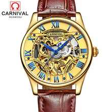 2016 Carnival hollow out full steel Mens Watches military tourbillon Luxury Brand Sapphire Waterproof Automatic Mechanical Watch