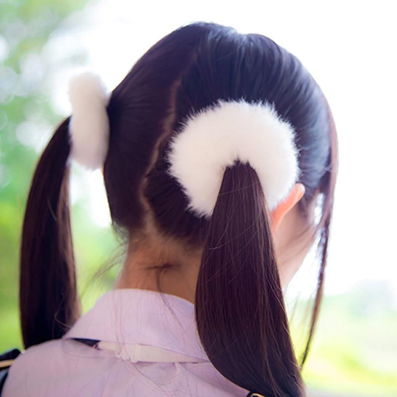 Fashion Trendy Elastic Cute Hair Bands Rope Faux Fur Soft   Headwear   Hairy Hair Accessories Gift For Women Girls Children