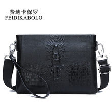FEIDIKABOLO Men Bag Genuine Leather Mens Shoulder Bag Small Messenger Bags Male Leather Crossbody Bag Handbags Clutch Purse Man