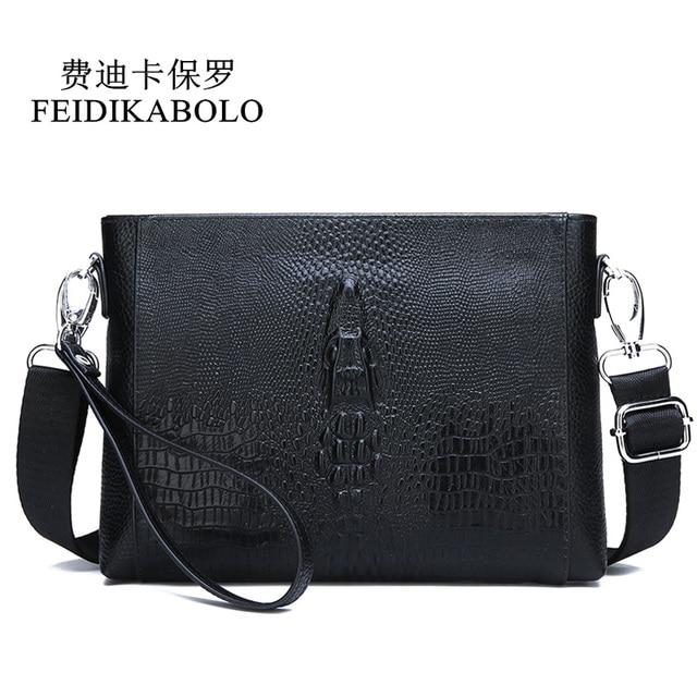 FEIDIKABOLO sac à bandoulière en cuir véritable pour hommes, petits sacs à bandoulière, sacs à main, pochette