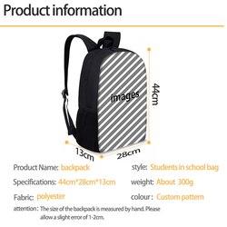 FORUDESIGNS marka Design piłka nożna/piłka nożna druku torby szkolne dla nastolatków podstawowego dla dzieci Plecak dla dzieci męski Plecak Plecak Szkolny 2
