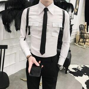 Image 3 - סתיו חדש הגעה מזדמן עסקי גברים שמלת חולצות יוקרה מקרית ארוך שרוול באיכות גבוהה זכרים חולצות חברתיות Camisa Masculina