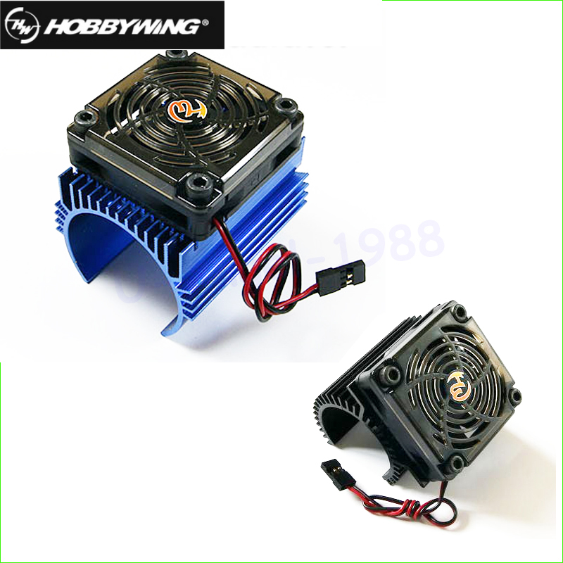 Original Hobbywing 1: 8 RC Car Motor Radiator + 5V Cooling Fan Assembly Suit For Hobbywing 4465 3665/3674 Motor