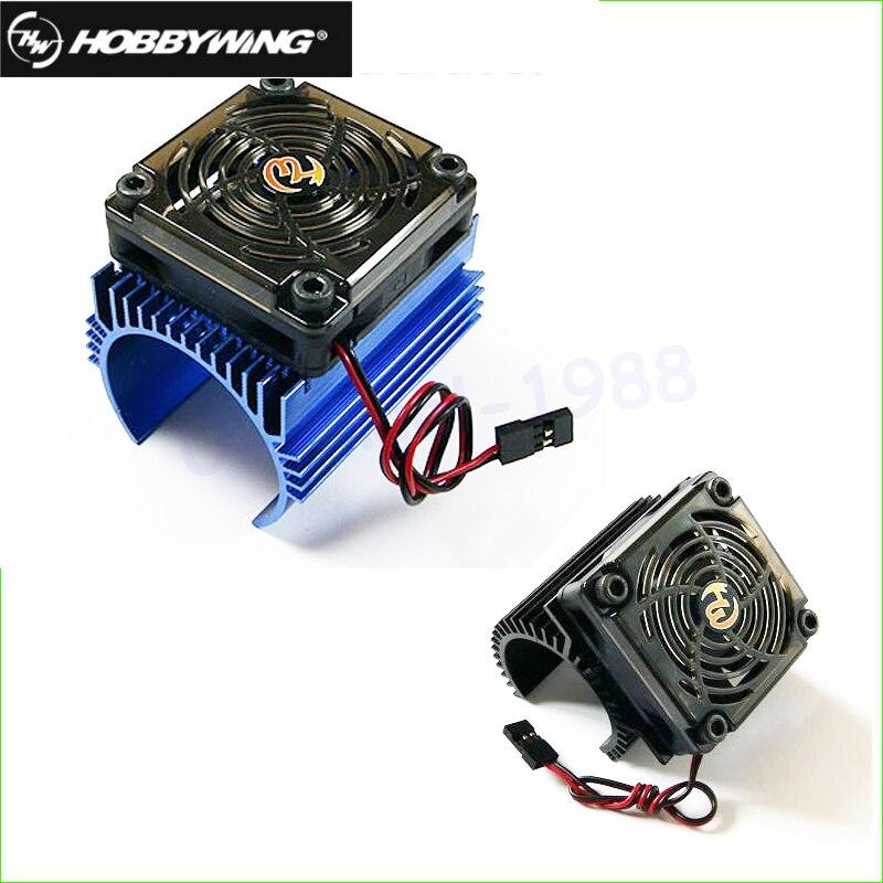 Original hobbywing 1: 8 RC motor del coche radiador + 5 V ventilador juego de montaje para hobbywing 4465 3665/3674 motor
