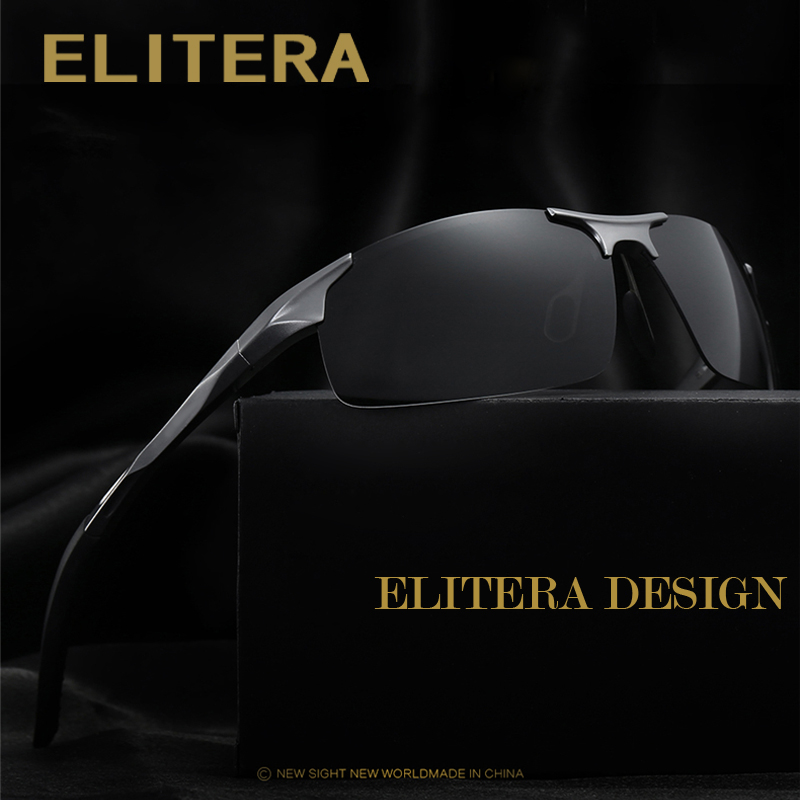 ELITERA Aluminum Brand New Polarized Sunglasses Men Fashion Sun Glasses Travel Driving Male Eyewear Oculos Gafas De So E8177