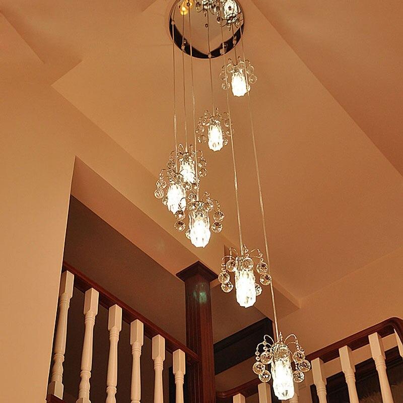 Us 19975 15 Offzyy Nowoczesne E14 Led Schodowe Lampy Związek Obrót Kryształ Lampa Wisząca Sypialnia Lampy Oświetlenie Restauracji Oprawa Salon