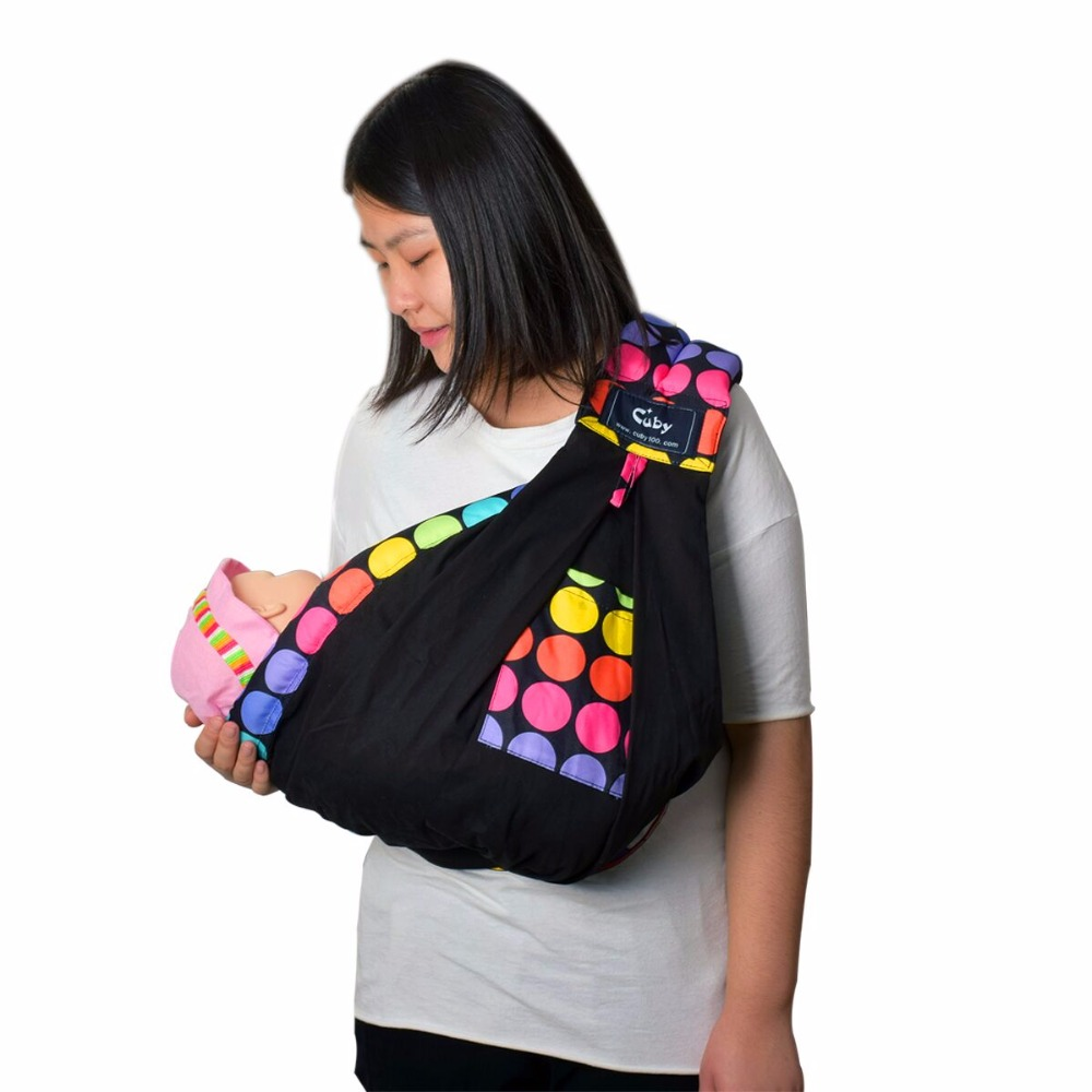 Cuby Baby Carrier Sling Wrap Cotton Hands Free Baby Sling Untuk Bayi