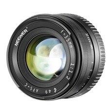 Neewer 35 мм F1.2 Большая диафрагма Prime APS-C алюминиевый объектив для sony E Mount беззеркальных камер A6500 A6300 A6100 A6000 A5100