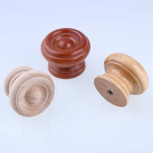 38mm American style wooden knobs wood drawer  shoe cabinet bedside table knobs pulls safety handles