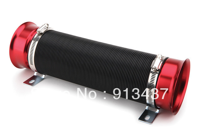 Universal Turbo Multi Flexible Air Intake Pipe silver/blue/red high quality factory price 76mm