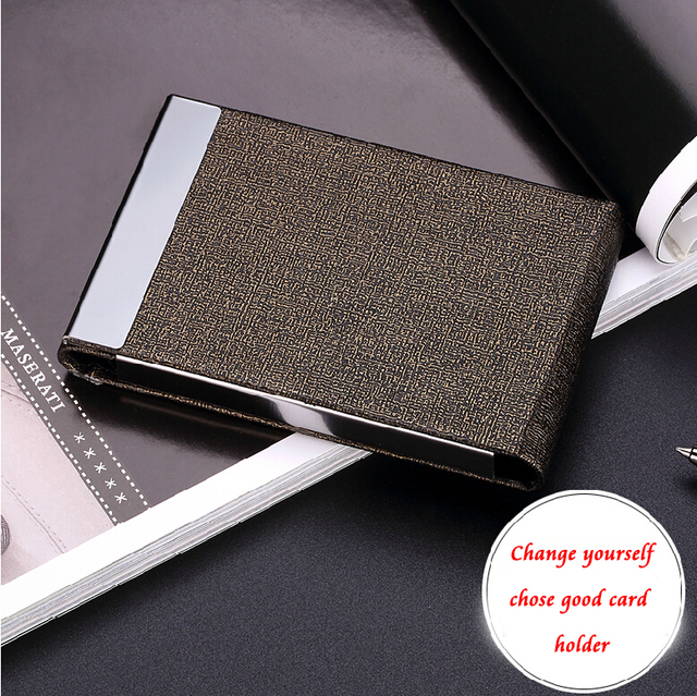 Free custom flip open cover men business card holder luxury gift free custom flip open cover men business card holder luxury gift office product new arrival reheart Image collections