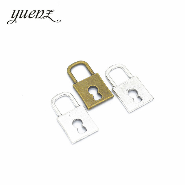 Yuenz 15pcs Fashion Ancient Bronze Metal Alloy Lock Male And Female