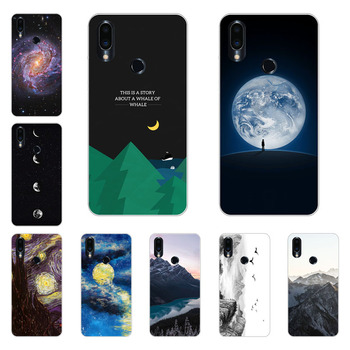 Meizu note 9 Case,Silicon Mountain peaks Painting Soft TPU Back Cover for Meizu note9 protect Phone shell