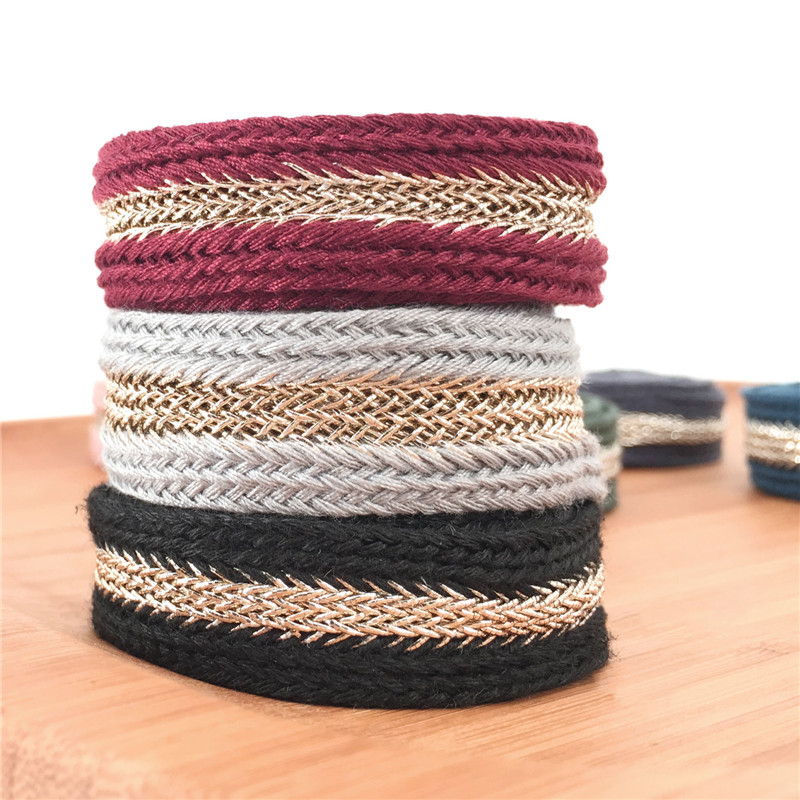 New 9 Colors 2cm Bullion Ribbon Stiching Tape woven ribbon with herringbone DIY webbing belt garment accessories Accessories in Webbing from Home Garden
