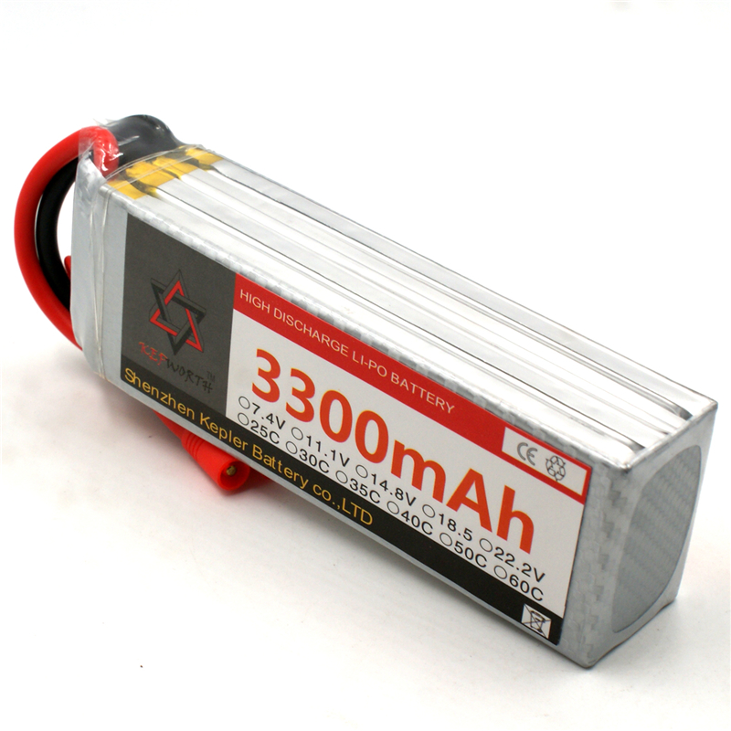 RC <font><b>Lipo</b></font> Battery <font><b>4s</b></font> 14.8v <font><b>3300mAh</b></font> Car Plane Boat Lithium Ion Polymer Battery For Truck Tank Drone Helicopter image