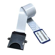 بطاقة تمديد بطاقة SD إلى بطاقة SD محول قراءة مرنة موسع مايكرو SD إلى SD/SDHC/SDXC بطاقة الذاكرة موسع الحبل Linker