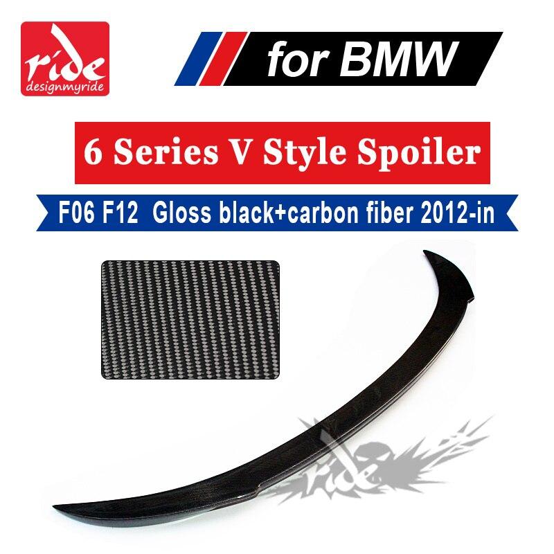 F06 F12 F13 Rear Trunk AEV Style Carbon Fiber Spoiler Wing For BMW 6 Series 640i 640d 650i 4 door Sedan Rear Trunk Spoiler 2012+ Spoilers & Wings     - title=