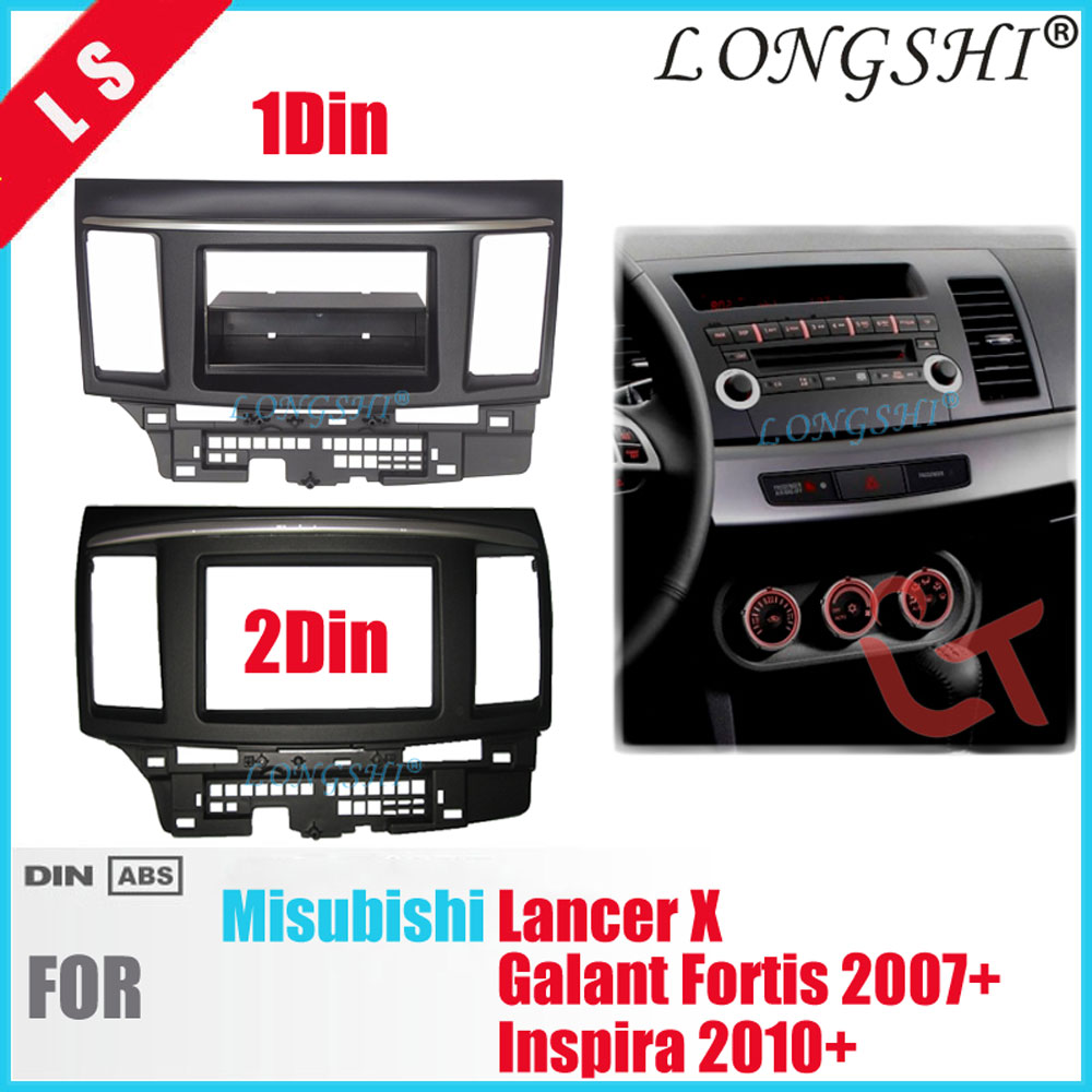 Double Din Fascia for MITSUBISHI LANCER FORTIS Radio DVD Stereo Panel Dash Mounting Installation Trim Kit