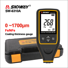 SNDWAY Width Measuring Instruments Thickness Gauges Paint Coating Thickness Gauge Tester SW-6310A Digital Film Thickness Gauge