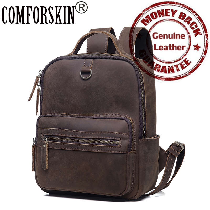 COMFORSKIN Women Backpacks New Arrivals Premium Cow Leather High Quality Fashion Vintage Women Bags with Soft Handle Best Price the new high quality imported green cowboy training cow matador thrilling backdrop of competitive entrance papeles