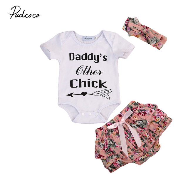95b2d4c448ea Pudcoco Newborn Baby Girl Top Romper Click Short Sleeves Top+Shorts ...