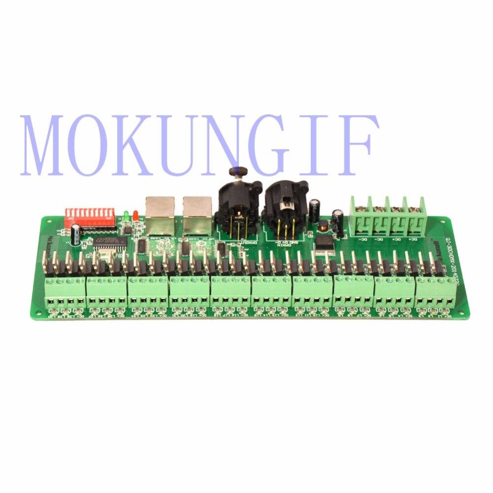 Mokungif expédition Rapide 5 pcs 30 CANAL/30CH FACILE DMX LED contrôleur DMX décodeur et pilote RGB led contrôleur 9-24 V