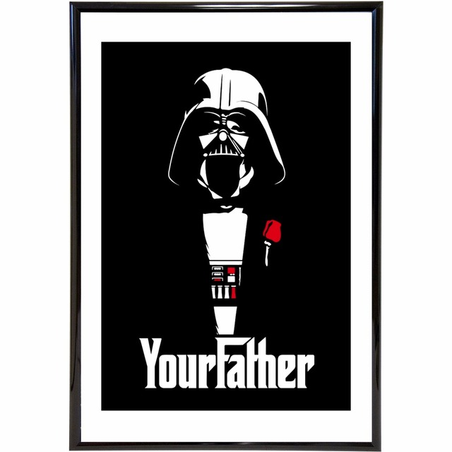 Your Father Star Wars Vintage Printed Art Painting Canvas Poster Wall Decor Home Room Decoration Silk Fabric Pictures No Frame