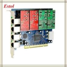 TDM410P Asterisk pci-плата с FXS/порты FXO, аналоговая Голосовая карта, Asterisk/Trixbox/Elastix/Freeswitch ip-атс