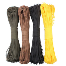 50meters  Dia. 2mm one stand Cores Paracord for Survival Parachute Cord Lanyard Camping Climbing Camping Rope Hiking Clothesline