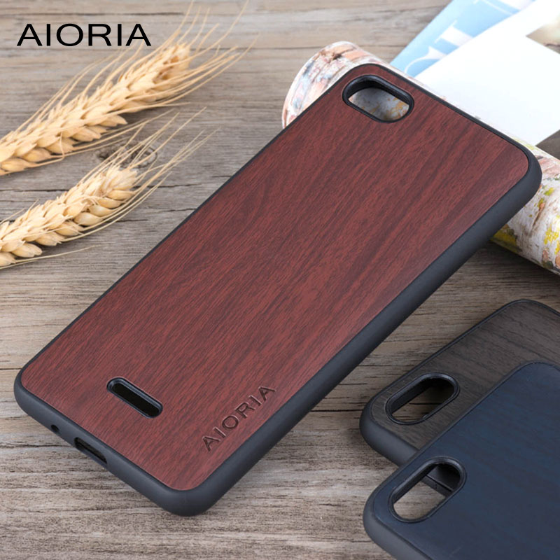 Wooden design case for <font><b>Xiaomi</b></font> <font><b>Redmi</b></font> <font><b>6A</b></font> soft TPU silicone & PC & wood PU leather skin covers coque fundas for <font><b>Xiaomi</b></font> <font><b>redmi</b></font> <font><b>6A</b></font> image