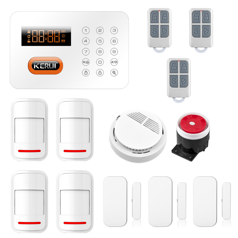 X1 433MHz Sensors Alarm Intelligent Home Alarm PSTN ADSL Home Security Burglar Alarm System PIR Sensor Smoke Detector