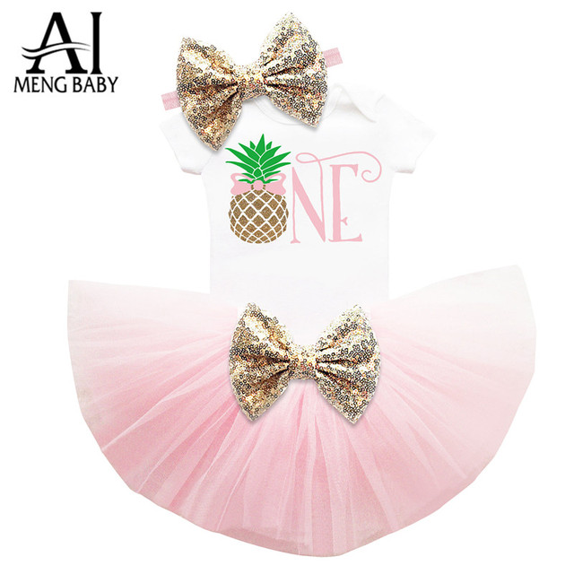 028d74be Ai Meng Baby Girl Clothes First Birthday Outfits Toddler Clothes Tutu Sets  Newborn Baby Christening Suit