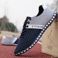 Весна и лето дышащая сетка обувь мужчины холст обувь мужчины Корейской версии тенденция мужская повседневная обувь