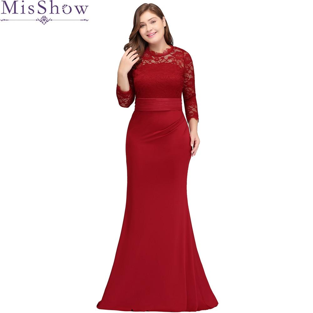 Cheap Red Mermaid Long Bridesmaid Dresses Plus Size 2019 Simple Floor Length Mermaid High Quality Satin Maid Of Honor Dress