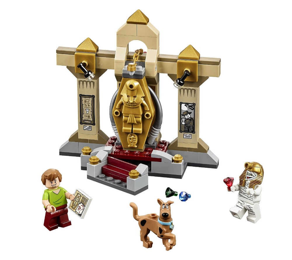 BELA Scooby-Doo Mummy Museum Mystery Building Block Model Kits Scooby Doo Marvel  Toys Compatible Legoe scooby doo team up