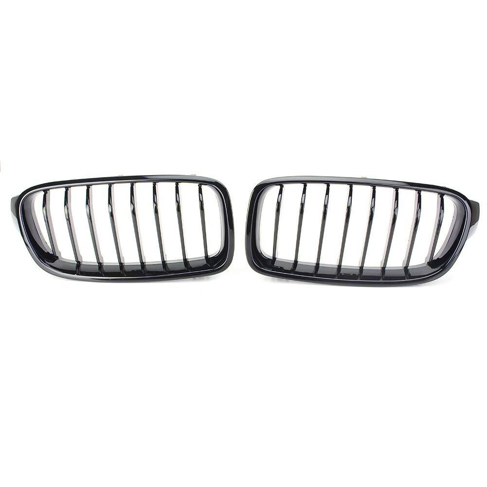 Grilles de calandre centrale Auto pour BMW F30 F31 3 Series 2012 2013 2014 2015 2016 plastique ABS noir