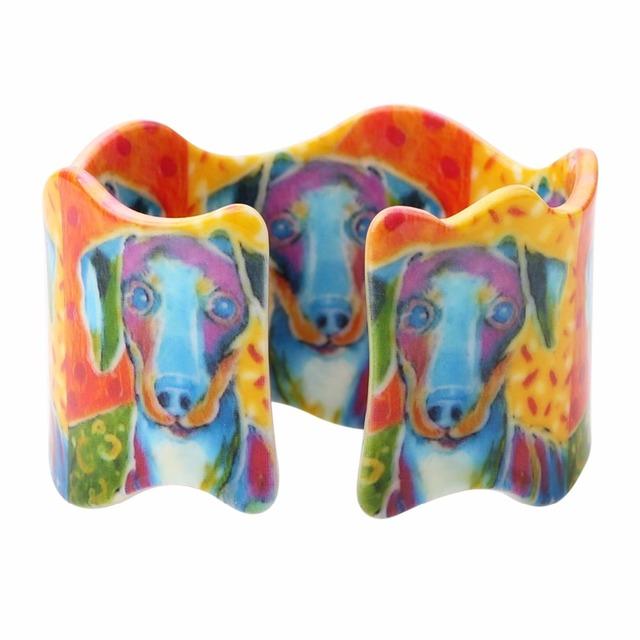 Creative Floral Dog Patterned Bracelet