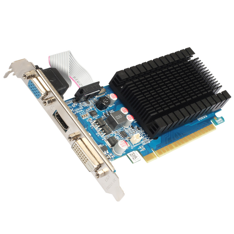Yeston Sound-Free NVIDIA GT710 1G video card ultra-HD GT710 1G DDR3 graphics card for desktop 2 years warranty