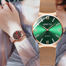 GIMTO New Rose Gold Women Watches Steel Dress Watch Lady Bracelet Quartz Watch Luxury Brand Female Wristwatch Waterproof Clock gimto brand luxury crystal women watches rose gold steel clock bracelet ladies quartz watch female wristwatch relogio feminino